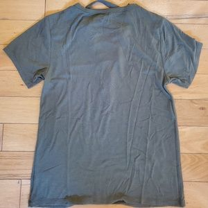 Express Tops - Express olive/army green lace up girlfriend tee XS